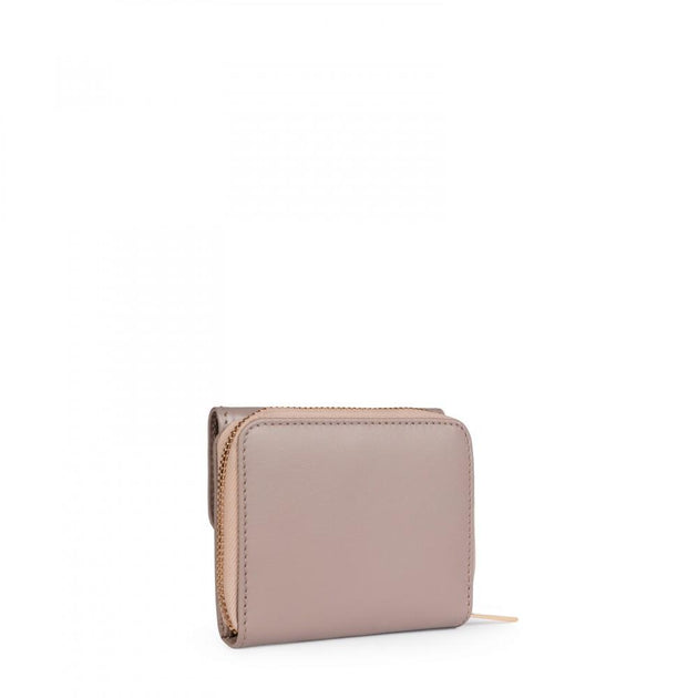 Small taupe Leather Rossie Wallet