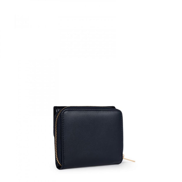 Small blue Leather Rossie Wallet