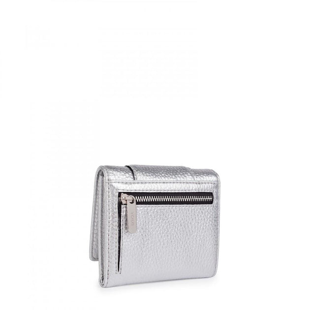 Small silver Leather Alfa Wallet