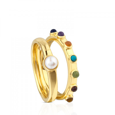 Vermeil Silver Super Power Ring with Gemstones, Tous