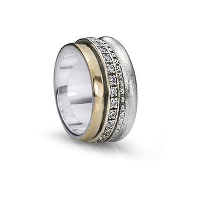 Enlighten, Cubic Zirconium Meditation Rings