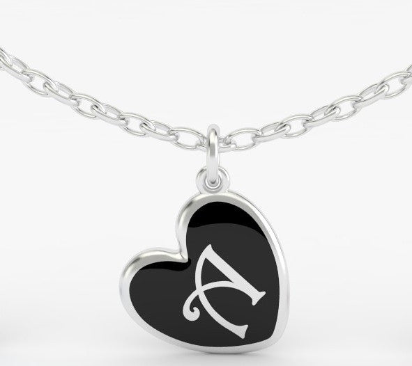 Luv Letter 'A' Pendant Heart