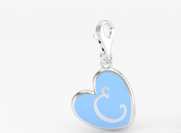 Luv Letter 'C' Bridle Charm Heart