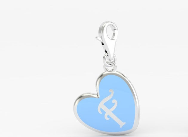 Luv Letter 'F' Bridle Charm Heart