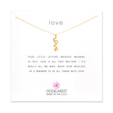 L.O.V.E Necklace, Love Word, Gold Dipped, 16""