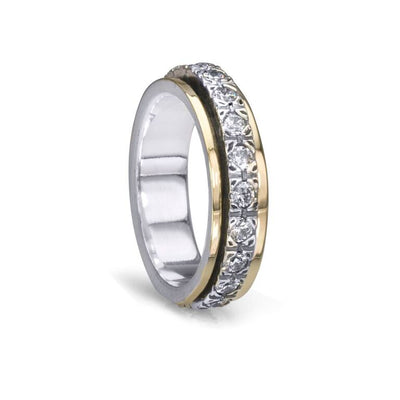 Beloved, Cubic Zirconium Meditation Rings