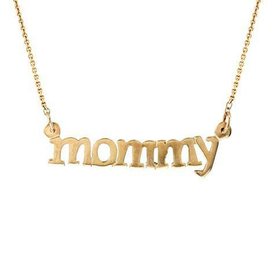 Mommy Lowercase Pendant On Chain Maya J MMYL