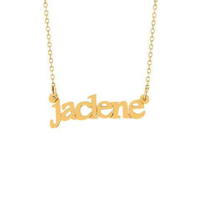 Name Lowercase Pendant With Chain Maya J MNAML