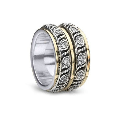 Promise, Spinning Eternity Bands, Large Cubic Zirconium Meditation Rings
