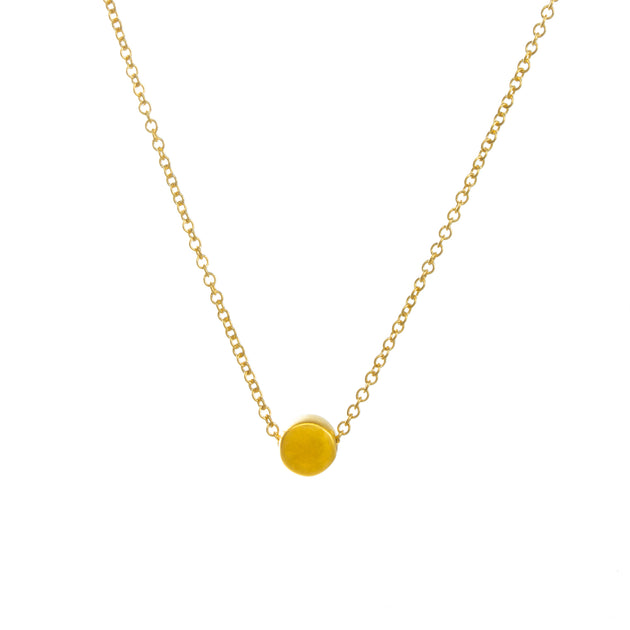 "Circle Necklace, 16"", Gold Dipped"