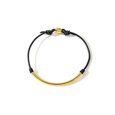 Balance Tube Leather Bracelet