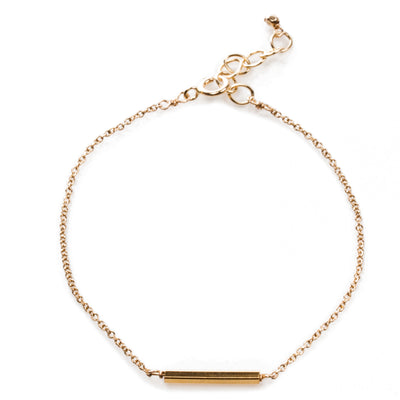 Balance Thin Tube Bracelet, Gold Dipped, Square Tube