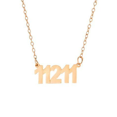 Zip Code Pendant On Chain