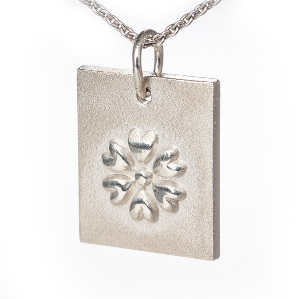 Perfectly Pretty Flower Disk Pendant