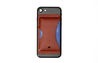 Stick-On Phone Wallet (Brown)