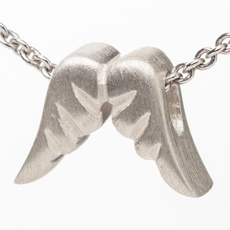Double Angel Wings Tiny Perfect Pendant