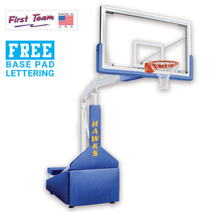 First Team Hurricane Triumph-FL Portable Basketball Goal