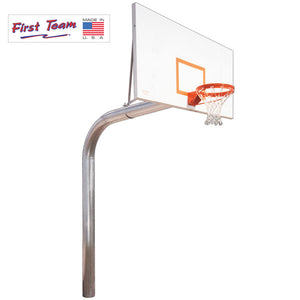 First Team Tyrant Impervia Fixed Height Basketball Goal