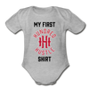 My First HH Baby Bodysuit - heather gray