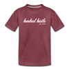 Toddler Cursive Logo Tee - heather burgundy