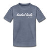 Toddler Cursive Logo Tee - heather blue