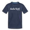 Youth Cursive Premium Tee - navy