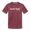 Youth Cursive Premium Tee - heather burgundy