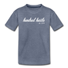 Youth Cursive Premium Tee - heather blue