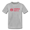 Youth Horizontal Logo Tee - heather gray