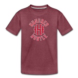 Youth Circle Logo Tee - heather burgundy