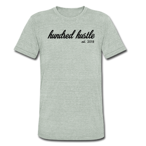 Unisex Cursive Logo Tri-Blend Tee - heather gray