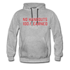 Hundred Hustle No Handouts Mens Hoodie Sweatshirt Black/Navy/Royal Blue/Olive/Charcoal/Heather Grey/ - heather gray