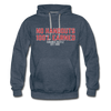 Hundred Hustle No Handouts Mens Hoodie Sweatshirt Black/Navy/Royal Blue/Olive/Charcoal/Heather Grey/ - heather denim