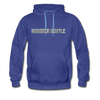 Hundred Hustle Camo Mens Hoodie Sweatshirt Black/Navy/Royal Blue/Olive/Charcoal/Heather Grey/ - royalblue