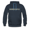 Hundred Hustle Camo Mens Hoodie Sweatshirt Black/Navy/Royal Blue/Olive/Charcoal/Heather Grey/ - navy