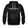 Hundred Hustle Camo Mens Hoodie Sweatshirt Black/Navy/Royal Blue/Olive/Charcoal/Heather Grey/ - charcoal gray