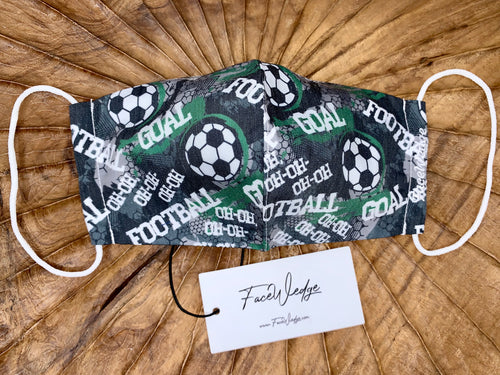 Goal & Football Fabric Face Mask - FaceWedge