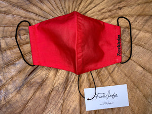 Dark lining - Red Fabric Face Mask - FaceWedge