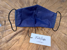Load image into Gallery viewer, Dark lining - Dark Blue Fabric Face Mask - FaceWedge