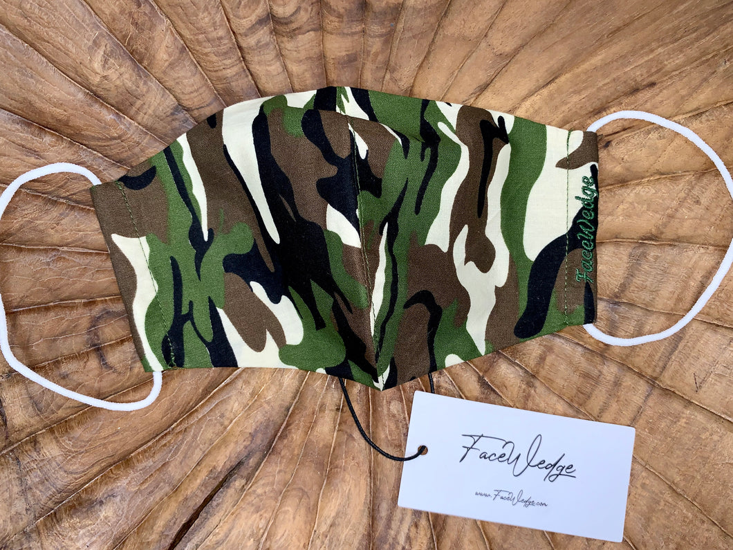 Camouflage Fabric Face Mask - FaceWedge