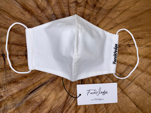 White Fabric Face Mask - FaceWedge