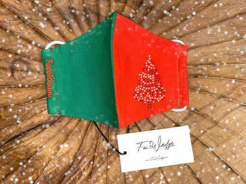 Christmas Tree Fabric Face Mask - FaceWedge