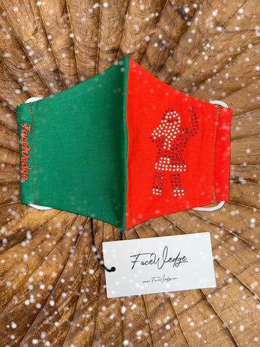 Christmas Santa Fabric Face Mask - FaceWedge