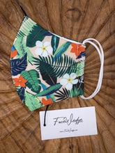 Load image into Gallery viewer, Pink Jungle Tropical Reusable Face Mask - FaceWedge
