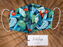 Load image into Gallery viewer, Jungle Tropical Fabric Face Mask - FaceWedge Singapore Breathable Washable Reusable