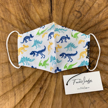 Load image into Gallery viewer, Dinosaur Fabric Face Mask - FaceWedge Singapore Breathable Washable Reusable