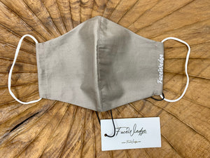 Champagne Nude Fabric Face Mask - FaceWedge