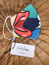 Load image into Gallery viewer, Pop Art Fabric Face Mask - FaceWedge Singapore Breathable Washable Reusable