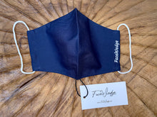 Load image into Gallery viewer, Singapore Breathable Washable Reusable Navy blue Fabric Face Masks - FaceWedge