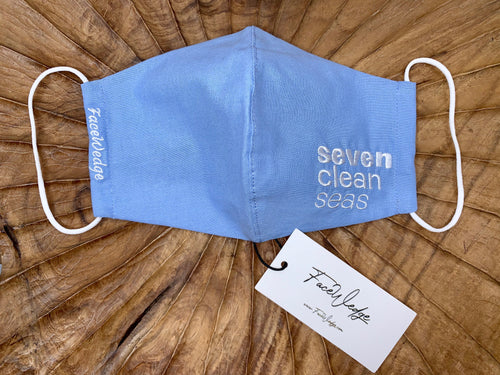 Seven Clean Seas Fabric Face Mask - FaceWedge Singapore Breathable Washable Reusable Seven Clean Seas